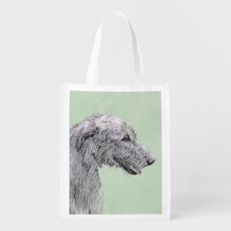 Irish Wolfhound Reusable Grocery Bag