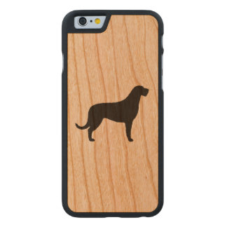 Irish Wolfhound Silhouette Carved Cherry iPhone 6 Case
