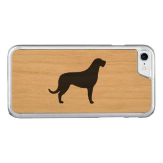Irish Wolfhound Silhouette Carved iPhone 8/7 Case