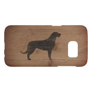 Irish Wolfhound Silhouette Rustic Samsung Galaxy S7 Case