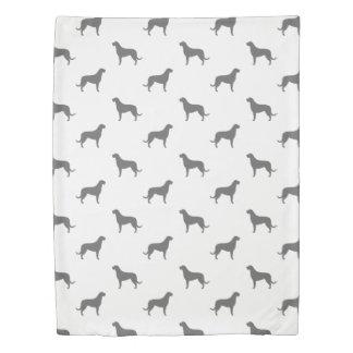 Irish Wolfhound Silhouettes Pattern Duvet Cover