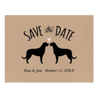 Irish Wolfhound Silhouettes Wedding Save the Date Postcard