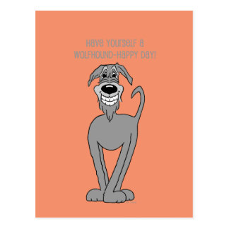 Irish Wolfhound Smile Postcard