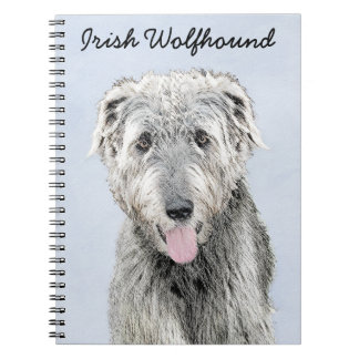 Irish Wolfhound Spiral Notebook