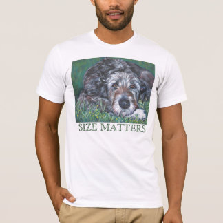 Irish Wolfhound t shirt Size Matters