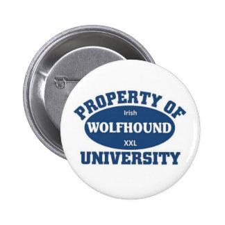 Irish Wolfhound University 2 Inch Round Button
