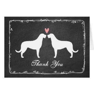 Irish Wolfhounds Wedding Thank You Card