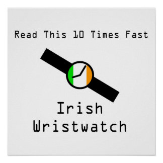 Irish Wristwatch Poster
