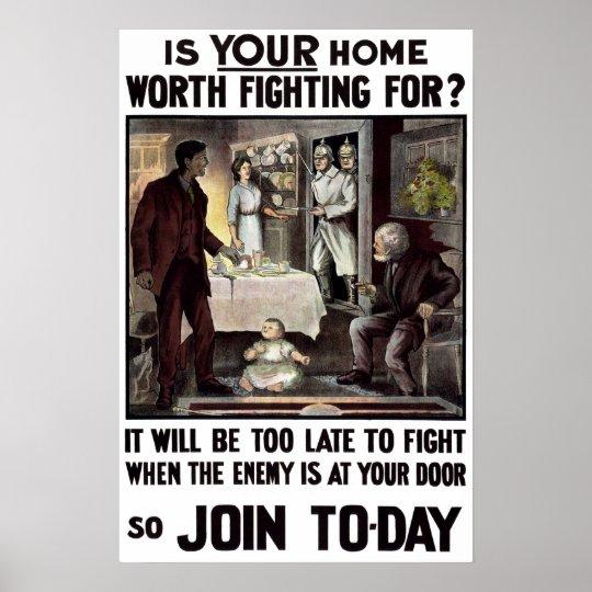 Irish WWI Military Recruitment Poster