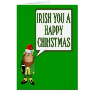 Irish you a happy Christmas Card