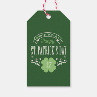 Irish You a Happy St. Patrick's Day Gift Tags