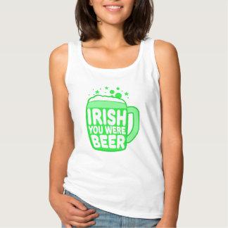 Irish You Were Beer Tank Top
