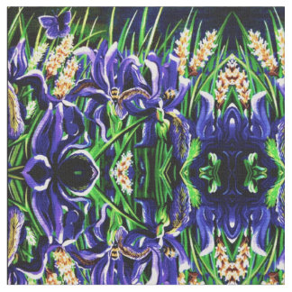 Iris's and Bees Fabric