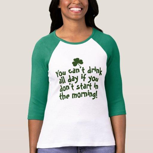 Irlandais drôle de Jour de la Saint Patrick T-shirts