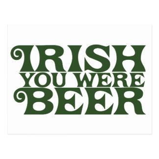 Irlandais vous étiez bière carte postale