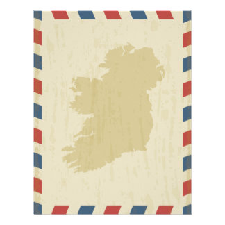Irleand Antique Airmail Letterhead