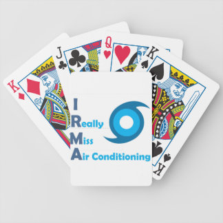 IRMA = I really miss Air Conditioning! Bicycle Playing Cards