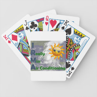 IRMA- I Really Miss Air Conditioning Bicycle Playing Cards