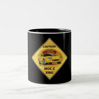 IROC84-2Black Two-Tone Coffee Mug