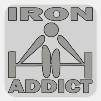 Iron Addict Square Sticker