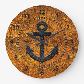 Iron Anchor Wall Clock