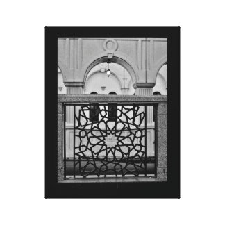 Iron Art and Mosque Canvas Print