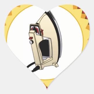 iron award hoop heart sticker