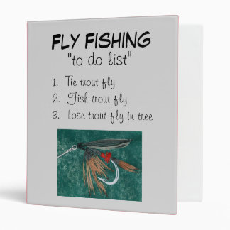 """Iron Blue Dun-To Do List"" Fly Fishing Journal 3 Ring Binder"
