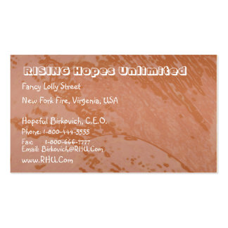Iron Content Red Soil  : Nature Earth Wonders Business Cards