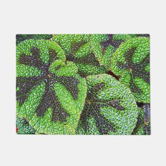 Iron Cross Begonia Floral Doormat