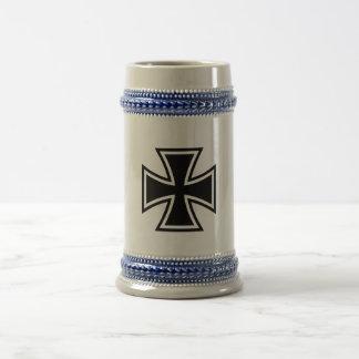 Iron Cross black Beer Stein