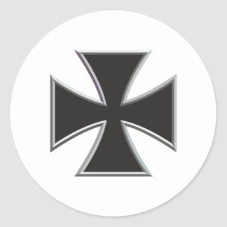 Iron Cross Classic Round Sticker