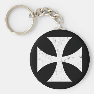 Iron Cross - German/Deutschland Bundeswehr Basic Round Button Keychain