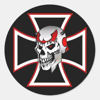 Iron Cross Skull sticker