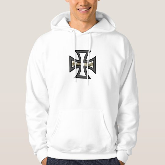 Iron Cross with Skulls Hoodie