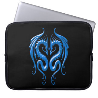 Iron Dragons, blue and black Laptop Sleeve
