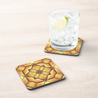 Iron Edged Glass Beverage Coasters