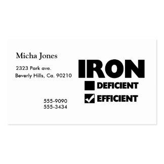 Iron Efficient Business Card