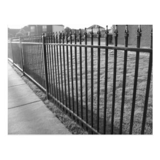 Iron Fence Postcard