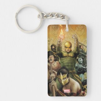 Iron Fist And The Immortal Weapons Double-Sided Rectangular Acrylic Keychain