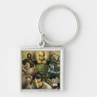 Iron Fist And The Immortal Weapons Silver-Colored Square Keychain