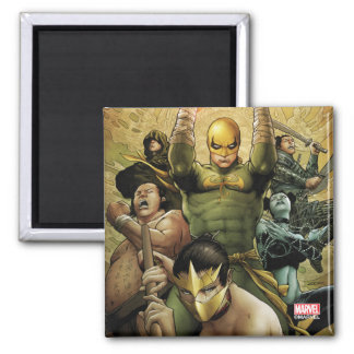 Iron Fist And The Immortal Weapons Square Magnet