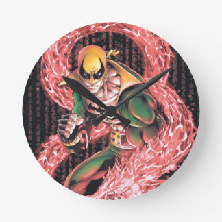 Iron Fist Chi Dragon Round Clock