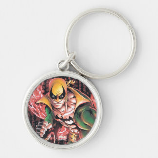 Iron Fist Chi Dragon Silver-Colored Round Keychain