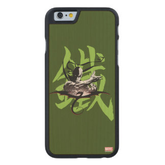 Iron Fist Chinese Name Graphic Carved Maple iPhone 6 Case