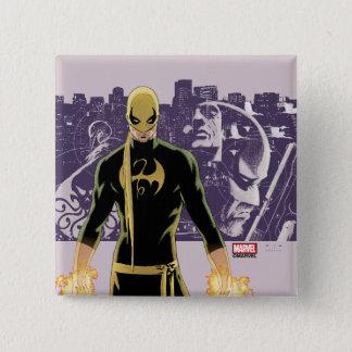 Iron Fist City Silhouette 2 Inch Square Button