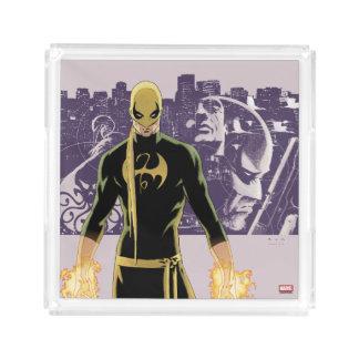 Iron Fist City Silhouette Acrylic Tray