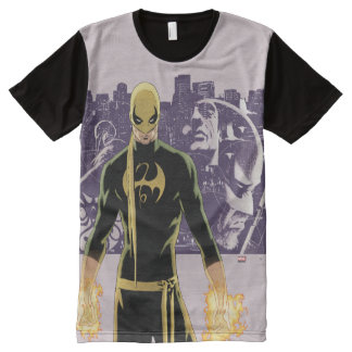 Iron Fist City Silhouette All-Over-Print T-Shirt