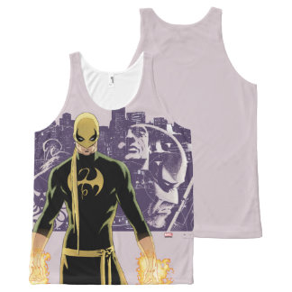 Iron Fist City Silhouette All-Over-Print Tank Top