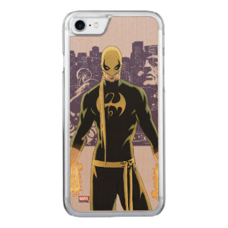 Iron Fist City Silhouette Carved iPhone 7 Case